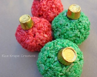 Christmas Ornaments Rice Krispie Treats (12)