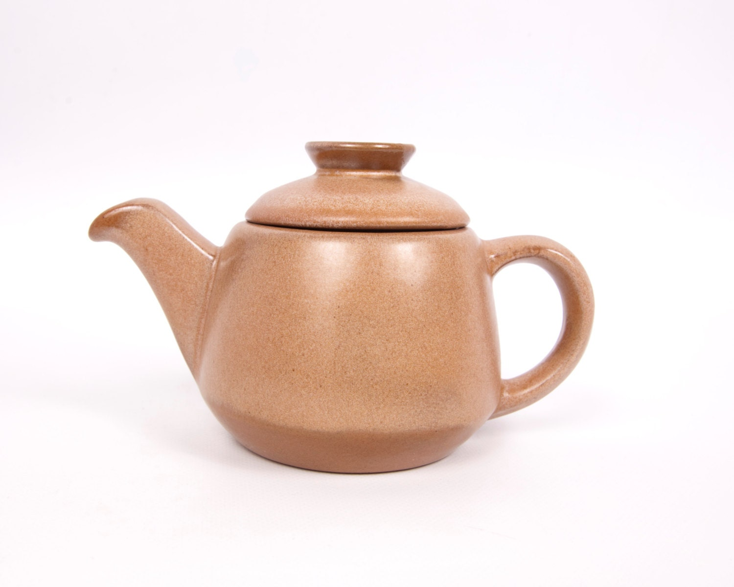 Vintage Frankoma Pottery Teapot With Lid Creamer Brown 6j