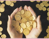"""Ca. 1989 """"Gold Doubloons"""" in Key West, Fla Topographical Picture Post Card - 1216"""