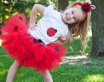 ladybug tutu, Baby Tutu, ladybug birthday, Photo Prop Tutu, Childrens Toddler, ladybug halloween costume