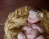 Newborn Baby Girl headband, Flower Headband for Baby Girls, Headbands and Bows