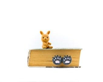 SALE! Bear paws bookmark. Animal bookmark.