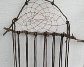 Dreamcatcher, Native American Inspired - Leather, Tin Cones
