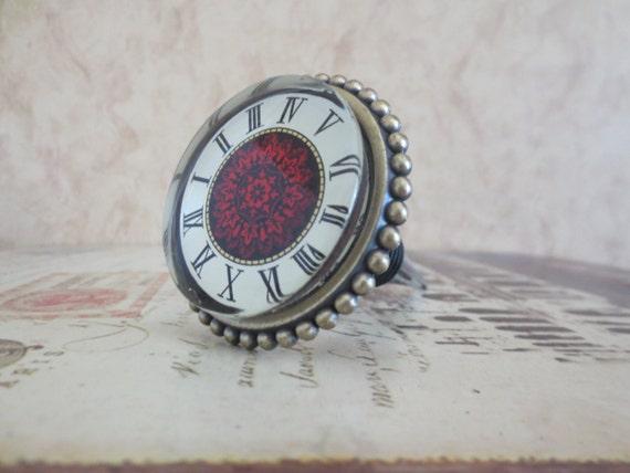 Wine Bottle Stopper - Large Red Clock Wine Stopper