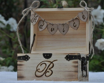 Rustic Wedding Advice Box -Shabby Chic Wedding  - Treasure Chest