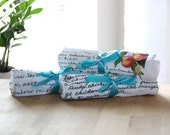 Set of THREE / / Recipes Printed on Dish Towels / / Print is Directly on Towel / /