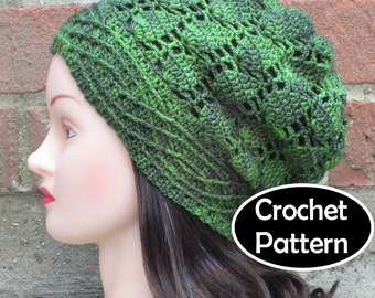 CROCHET HAT PATTERN Instant Pdf Download - Alatáriel Slouchy Beanie Hat Permission to Sell