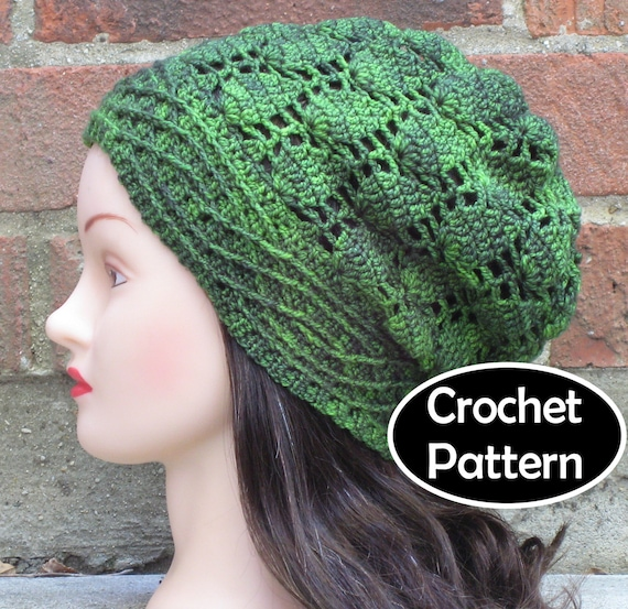 Crochet Hat Pattern Download : CROCHET HAT PATTERN Instant Pdf Download Alatariel Slouchy