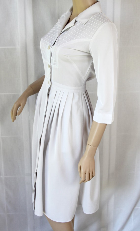 White Nurse Uniform Dress 15