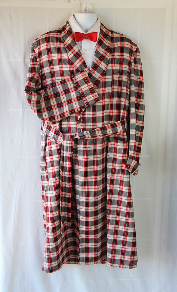 50s 60s Robe / Mens / Mid Century / Mad Men / Red / Regal Robes