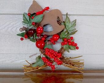 """Rockin' Christmas Pony Wreath 10x8"""""""