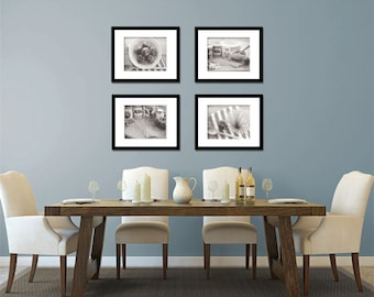 white photos fine art photography prints kitchen dining room decor