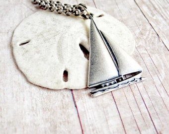 Sailboat Necklace Resort Fashion