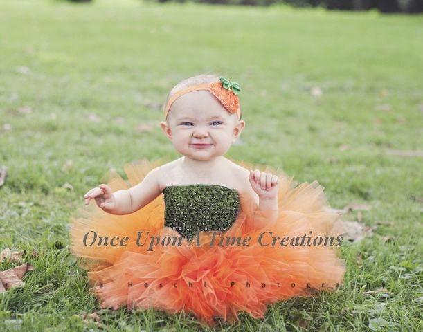 Pumpkin Cutie Tutu Dress Newborn 0 3 6 9 12 18 24 Months