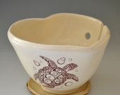 Ceramic Heart Yarn Bowl for a Large Skein