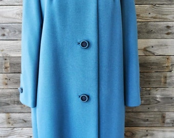 Vintage Sycamore Blue Coat with Fur Collar