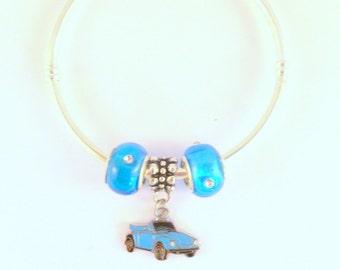 VW Convertible Beetle Bangle + 2 Beads