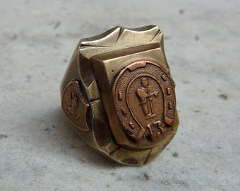 Vintage Lucky 13 Mexican Ring