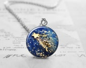 Shooting Star Necklace, Star Pendant, Space Necklace, Best Friend Gift, Girlfriend Gift, Pendant Necklace, Birthday Gift, N104