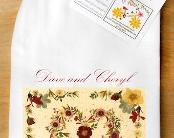 Valentines Personalized Heart Flour Sack tea Towel
