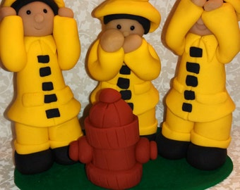 Polymer Clay - Speak no Evil, See no Evil, Hear no Evil Firemen