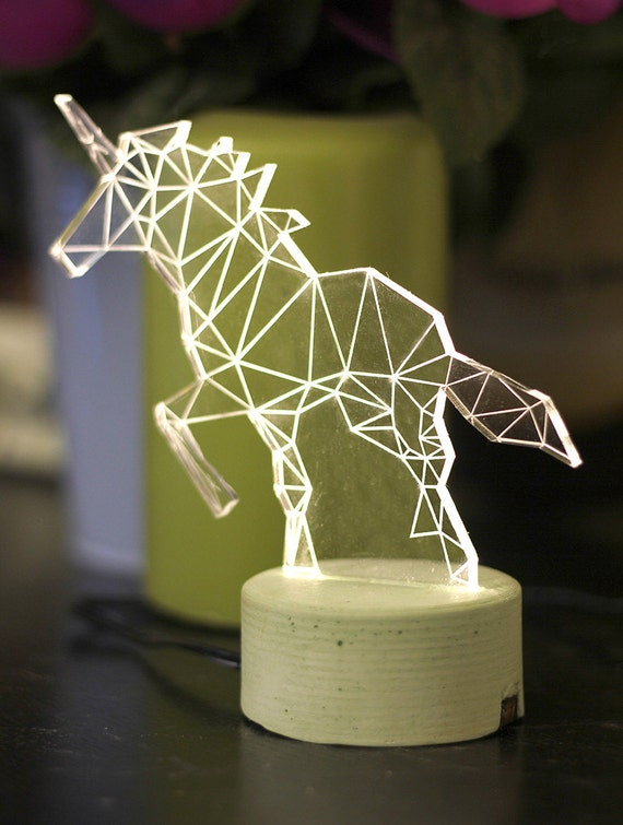 Unicorn lamp decorative table lamp unicorn night light