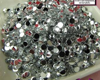 3mm CLEAR MIRROR RHINESTONES Flatback Great Quality (300 pieces)