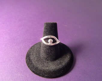 Sterling Silver Ring - Eye Ring - Evil Eye Ring - Eyeball Ring - Sterling Silver Ring