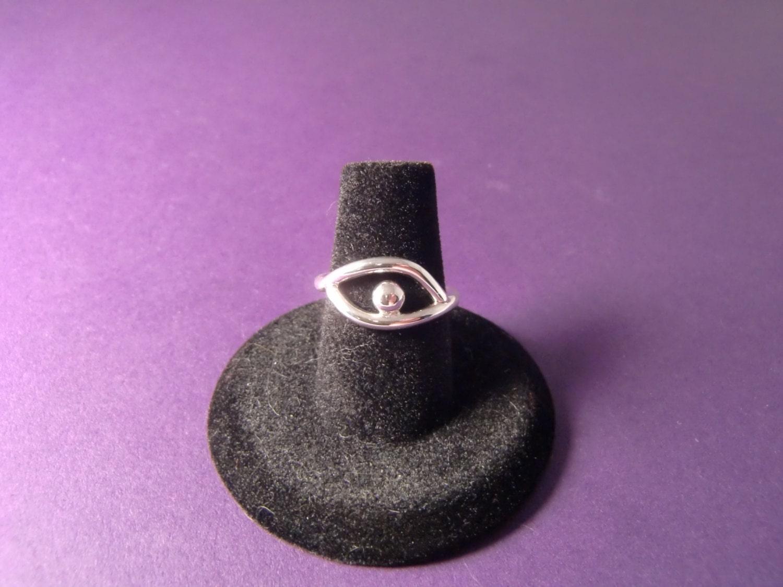 sterling silver ring eye ring evil eye ring eyeball ring
