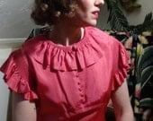 Shocking - Bright Pink 1930s Evening Dress