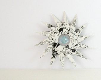 Large Paper Star - Origami Ornament - Paper Sculpture - Pride & Prejudice Book Paper Art Paper Decoration - Jane Austen Art - Wedding Decor