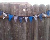 Star Wars Party Banner in Blue and Chevron