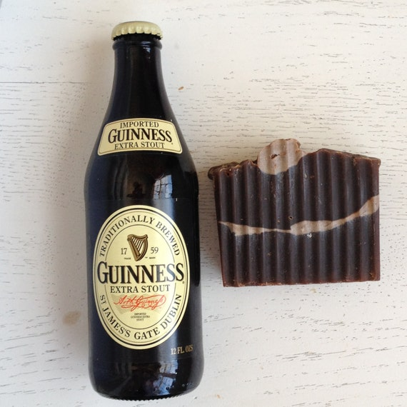 Decadent Dark Beer Soap - Guinness BEER SOAP - gift for him - Dad - stocking stuffer - Handmade Soap - Vegan - Cold Process - men soap - han