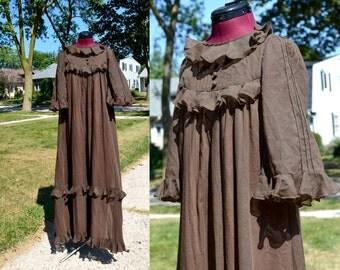 1970s Vintage Gina Fratini Designer Maxi Dress size 8 (XS S) bust 30