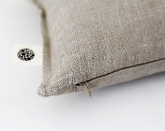 Linen pillow cover -  decorative covers -throw - euro sham  0039
