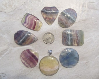 Fluorite Pendant Bead, You Choose