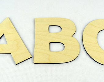 XXL Alphabet Wooden Letters / Wall Hanging / Nursery Decor / Alphabet Wall