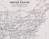 USA Vtg Map, 1947