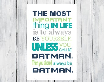 Batman Print Super Hero Print