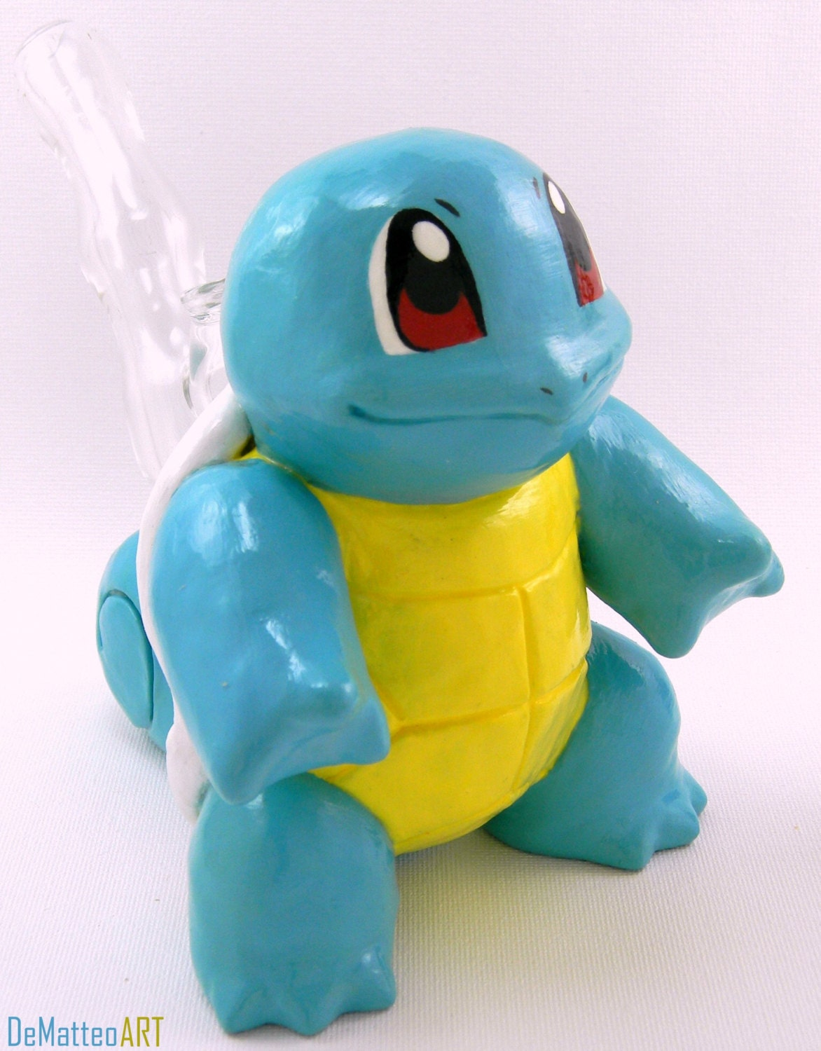 Large Squirtle Pipe Glass Interior Comes W 10 By