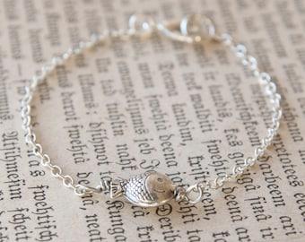 Silver Fish Bracelet - Silver Fish Symbol Jewelry