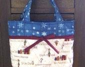 Winter Wonderland Quilted Tote Handbag