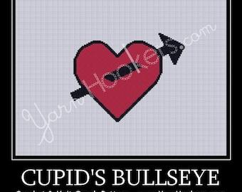 Cupid's Bullseye - Afghan Crochet Graph Pattern Chart - Instant Download