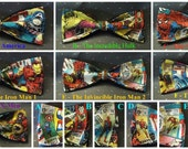 BowTies Made From Marvel Comics Fabric - 7 Stylish SEWN-BY-HAND Vintage Comic Bow Ties to Choose From - U.S.SHIPPlNG Never More Than 1.49
