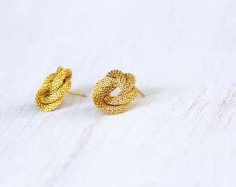 bridal earrings, stud earrings ,24k gold plated earrings