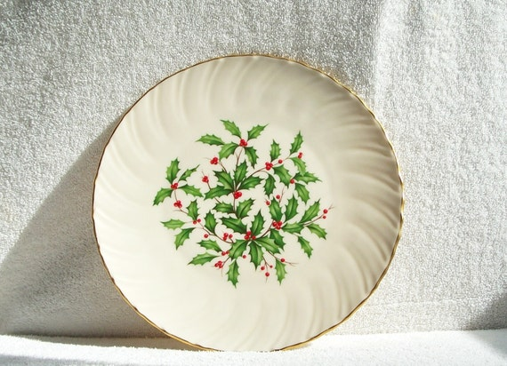 Lenox Wedding Gifts: Vintage Lenox Plate 1970s Christmas/24K Gold By Rmckie13
