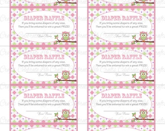 Printable Diaper Raffle Tickets Bab y Shower - Instant Download - Pink ...