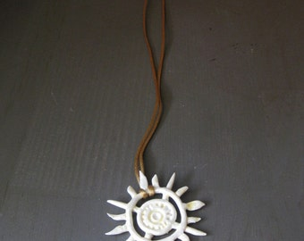 Tribal Sun Pendant Necklace