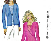 OOP Kwik Sew 3360 Misses Tee Shirt Tops Twisted Front Mock Wrap