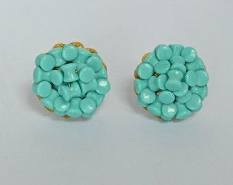 Vintage HOBE Earrings Turquoise  Clip